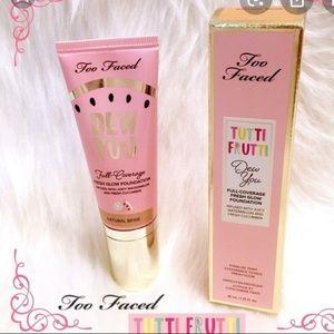 Too Faced Tutti Frutti Dew You foundation BNIB